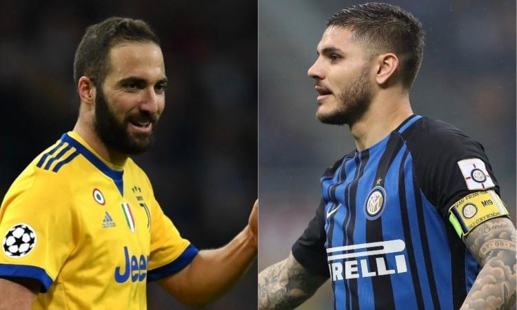Inter-Juve è anche Icardi contro Higuain: due modi di intendere il ruolo