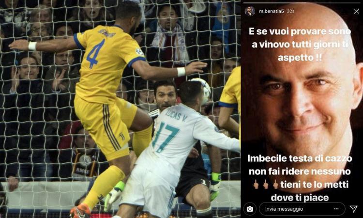 Juve, Benatia contro Crozza: 'Stupro? Ti aspetto a Vinovo, testa di c...'