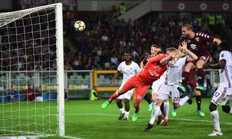 Il Milan non sa più vincere: 1-1 a Torino