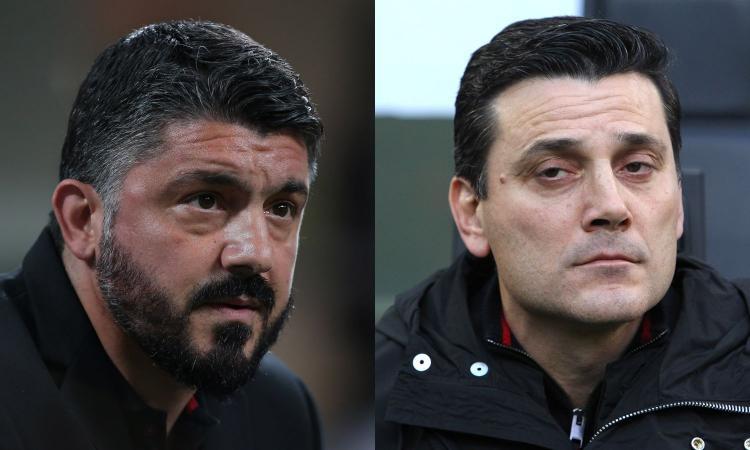Il Milan di Gattuso ha 5 punti in meno di quello di Montella: mercato flop