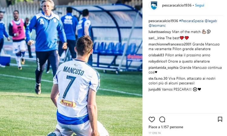 Mancuso, la speranza del Pescara: scartato dal Milan, il piano della Juve