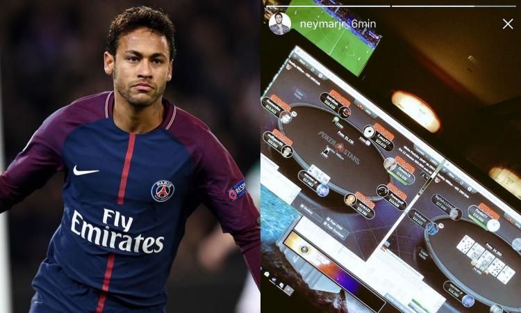 Momenti Di Gioia: il PSG festeggia il titolo, Neymar gioca a poker online