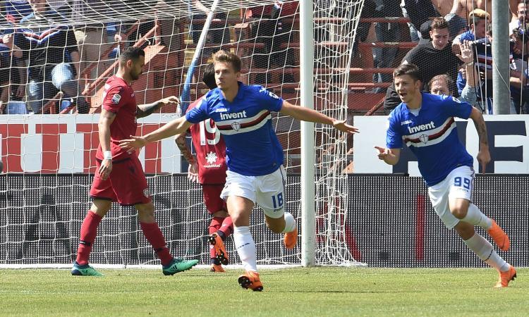 Allenamento calcio Sampdoria gara