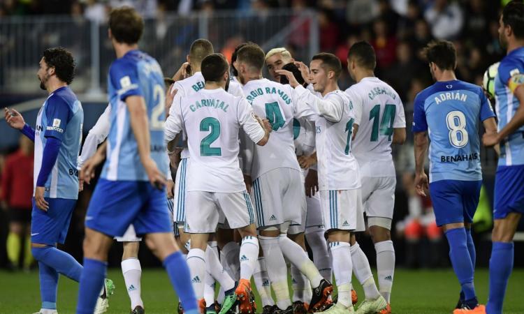 Liga: il Real vince a Malaga. L'Atletico ne fa tre, vincono Alaves e Getafe