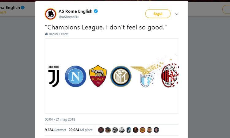 Inter in Champions ai danni di Lazio e Milan. Sfottò della Roma in stile Avengers