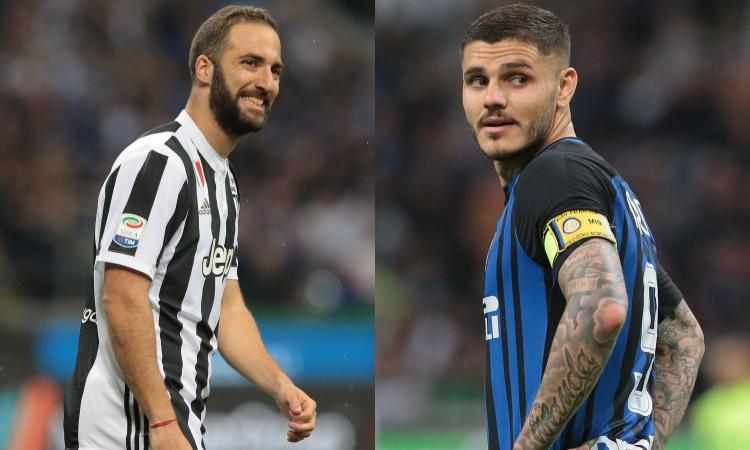 La differenza tra Juve e Inter: Higuain risorge, Icardi scaricato e deprezzato