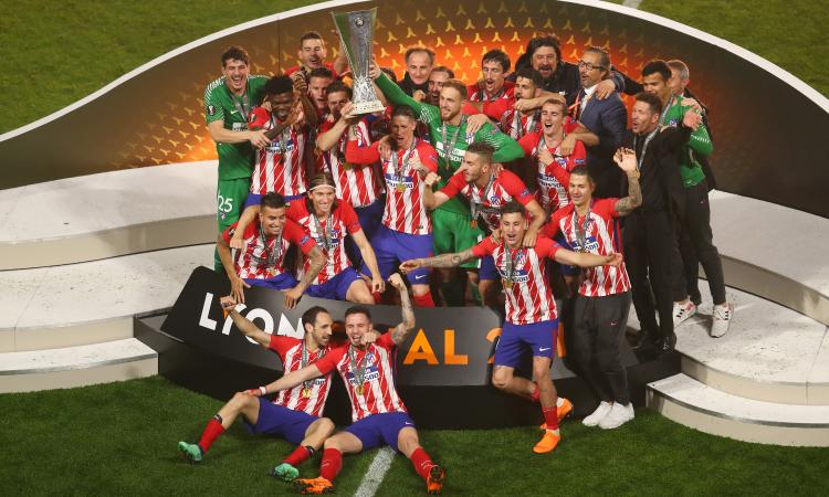 Europa League all'Atletico Madrid: 3-0 al Marsiglia, steso da Griezmann e Gabi