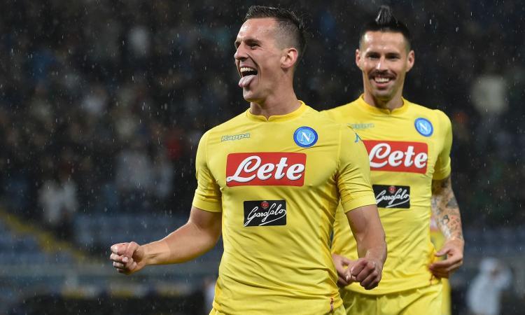 Napoli, 2-0 amaro contro la Samp. Match interrotto per cori discriminatori