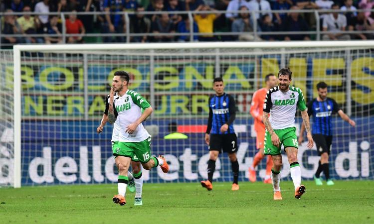 L'Inter crolla a San Siro: 2-1 Sassuolo, la Champions è un miraggio