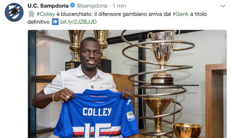 Sampdoria, Colley: 'Mi ispiro a Chiellini e Koulibaly, mio fratello al Chelsea e mio cugino all'Atalanta...'