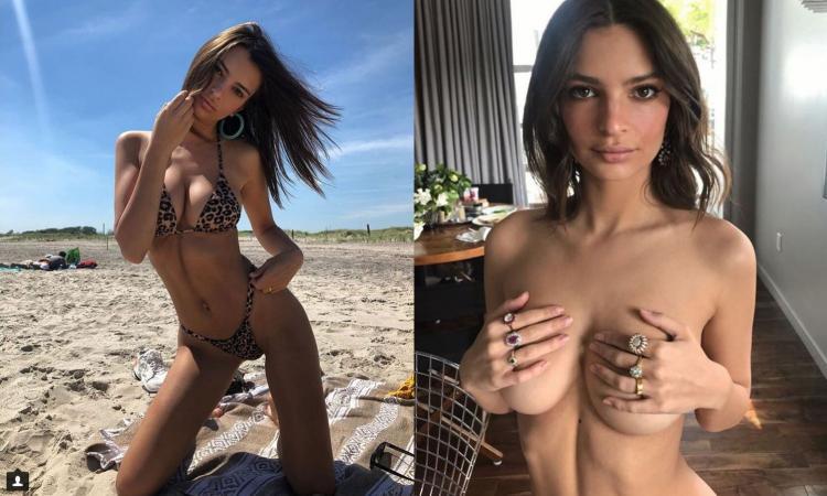 Emily, dopo il nude look agli Emmy arriva in Italia con Cattelan FOTO
