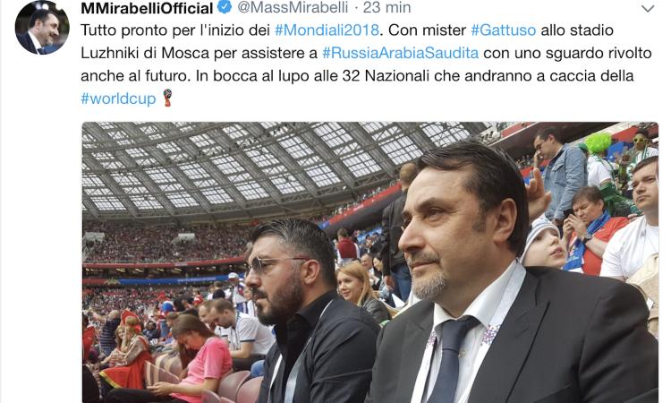 Milan, Mirabelli in Russia con Gattuso: 'Allo stadio Luzhniki con uno sguardo rivolto anche al futuro'