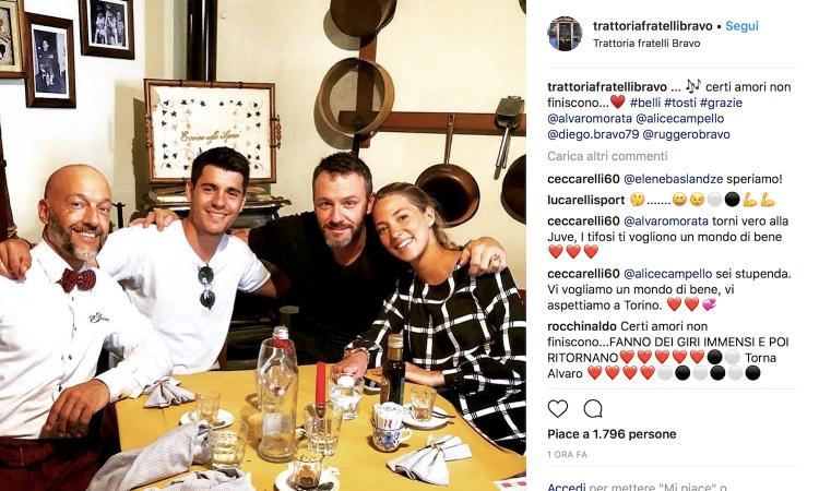 Morata-Juventus, nuovo indizio da Torino: 'Certi amori non finiscono mai'