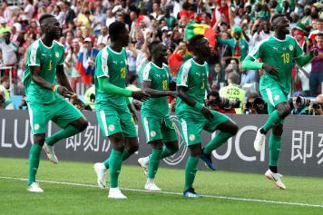 Niang Mane esultanza bizzarra gruppo Senegal