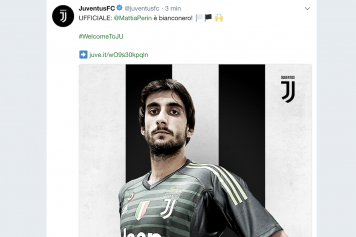 Perin Juve Twitter ufficiale