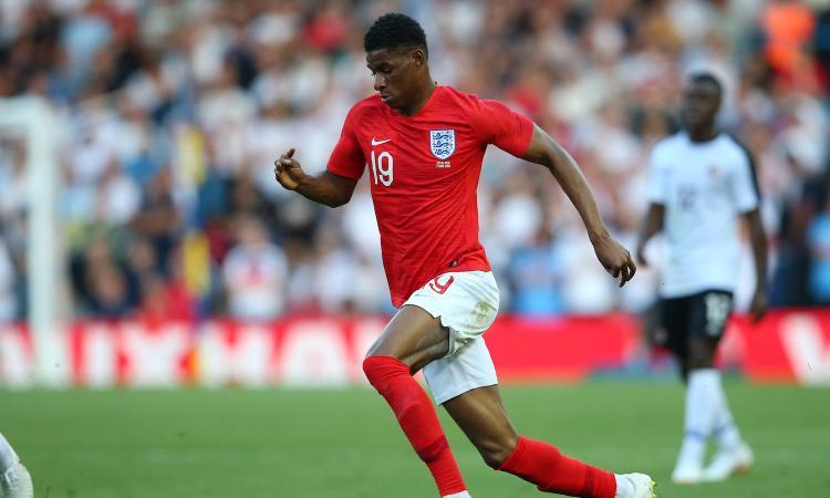 Inghilterra, infortunio al ginocchio per Rashford: rischia di saltare l'esordio