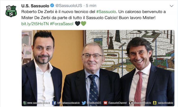 Sassuolo, UFFICIALE: è De Zerbi il nuovo allenatore