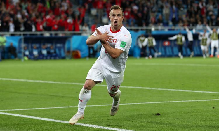 Xhaka e Shaqiri rimontano la Serbia: la Svizzera vince 2-1 e raggiunge il Brasile
