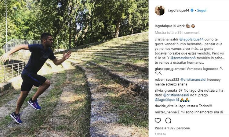 Torino, Ansaldi saluta Iago Falqué: 'Pensare che ti hanno già venduto, ci mancherai' FOTO