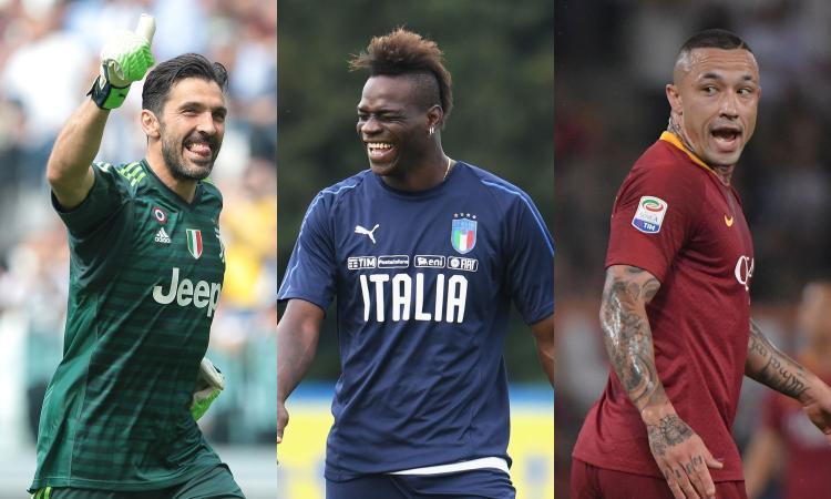 Da Buffon a Balotelli e Nainggolan: la top 11 dei calciatori fumatori incalliti