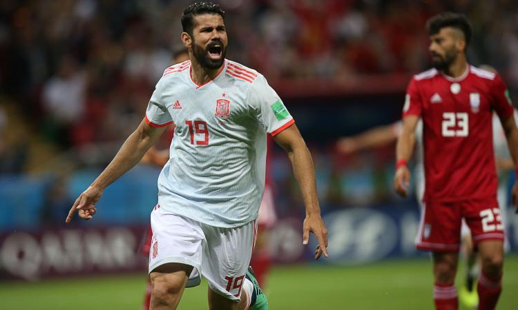 La Spagna supera a fatica l'Iran: decide una rete di Diego Costa