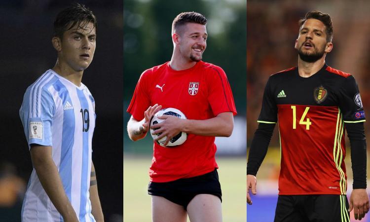 Mondiali -1, da Dybala a Milinkovic, da Douglas Costa a Mertens: quanta Italia!