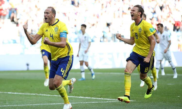 Granqvist su rigore condanna la Corea del Sud: la Svezia vince e vola in testa