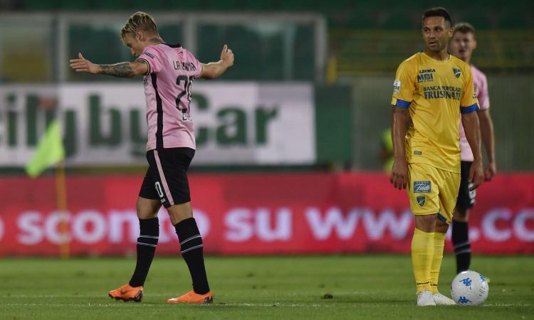 Palermo, 2-1 al Frosinone: decide un autogol di Terranova