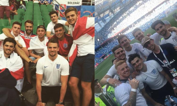 Maguire da tifoso a titolare dell'Inghilterra: due anni dopo la stessa foto, con gli stessi amici