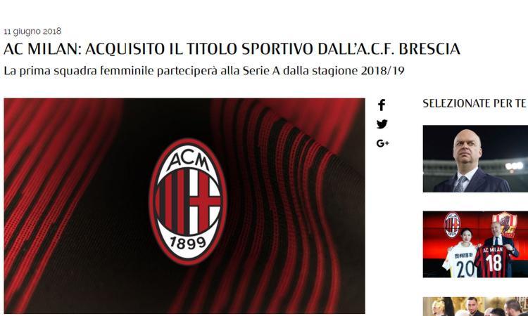 Milan femminile, no alla Champions. E la Juventus può soffiarti le migliori