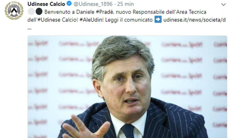UFFICIALE: Pradé lascia la Sampdoria e va all'Udinese