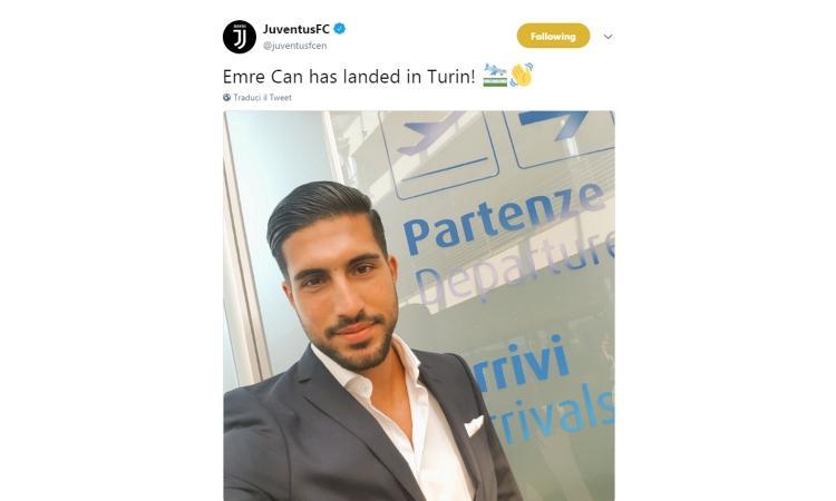 Juventus, rivivi la giornata delle visite mediche di Emre Can FOTO e VIDEO