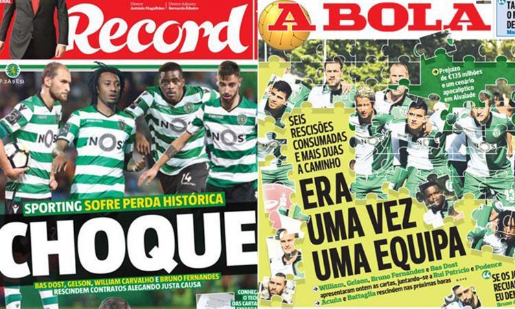 Sporting Lisbona: in 6 hanno chiesto la rescissione. Occasioni per la Serie A