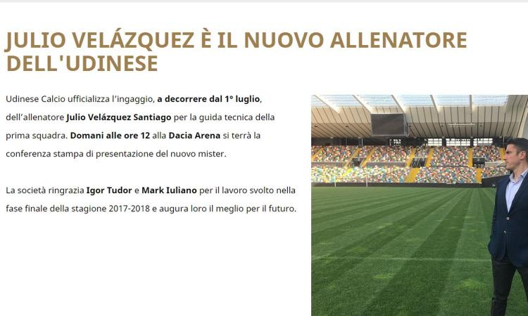 Udinese, Velazquez: 'Trattativa durata 9 mesi'