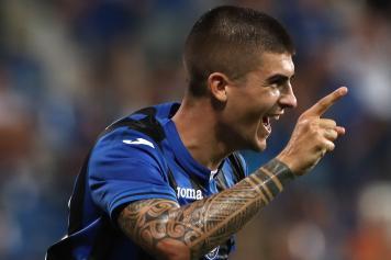 Mancini esultanza Atalanta dito