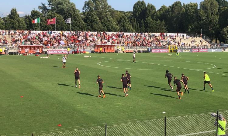 Ritiro Roma, poco più di 700 tifosi al Tre Fontane