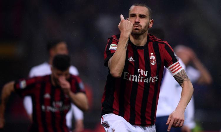 Milan-Juve, la doppia faccia di Bonucci