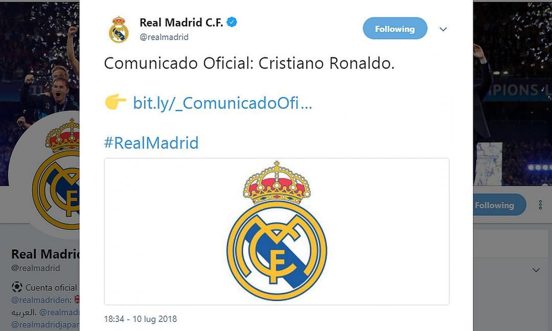 Ronaldo alla Juve: il Comunicato del Real Madrid