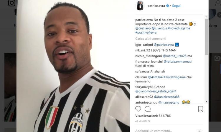 Juventus, Evra scatenato: canta e consiglia Cristiano Ronaldo VIDEO