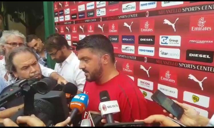 Gattuso: 'Non sono stati giorni facili. Bonucci? Bisogna rispettare le scelte dei giocatori. Su Leonardo e Morata...'