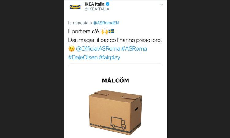 Ikea Ufficio Stampa : Roma ironia di ikea su olsen e malcom foto serie a
