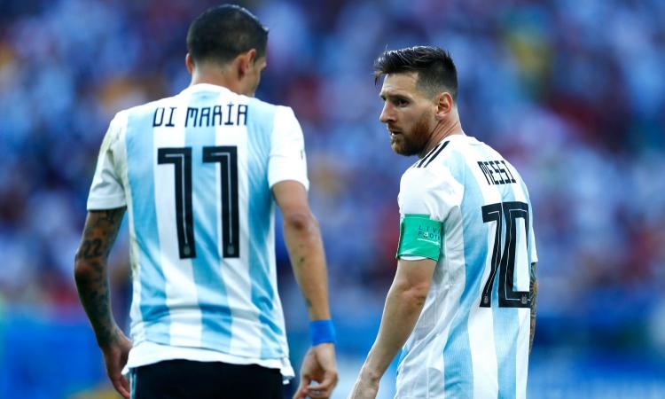 Argentina: Di Maria ko, con Messi gioca Dybala o Lautaro?
