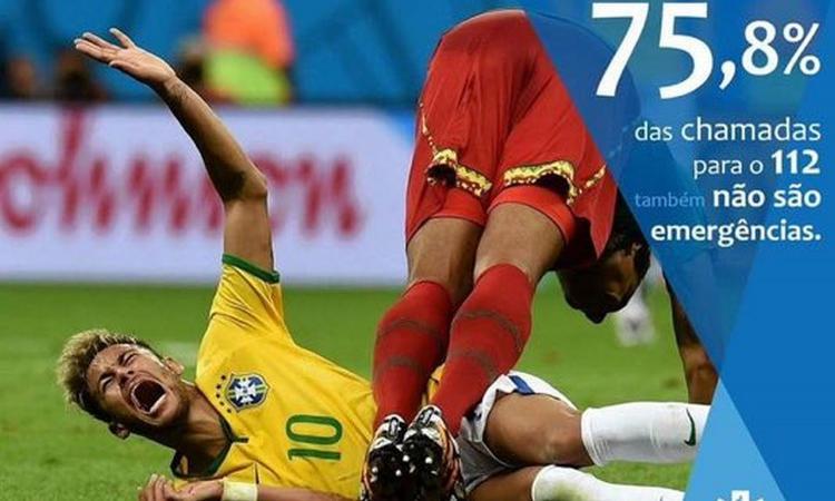 La pubblicità del 112 in Portogallo contro Neymar: 'Il 75% delle chiamate non sono vere emergenze' FOTO