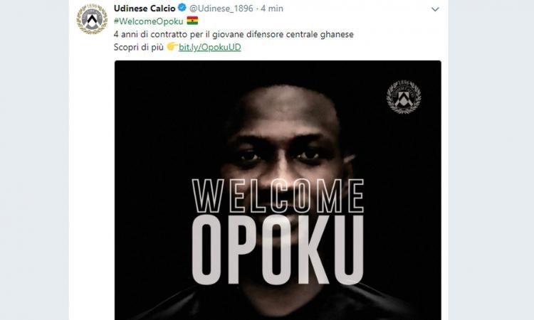Udinese, UFFICIALE: ecco Opoku
