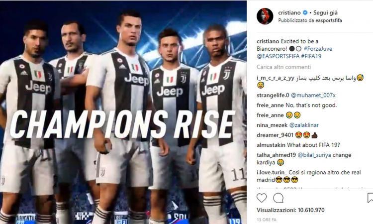 Ronaldo diventa della Juve anche su Fifa: 'Entusiasta di essere bianconero' VIDEO