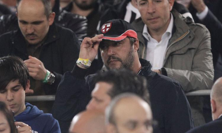 Salvini: 'Ronaldo-Juve? Da milanista posso solo rosicare, i nostri acquisti…'