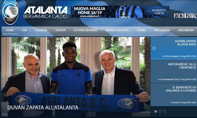 Atalanta, UFFICIALE Zapata: 'Per sempre grato alla Sampdoria'