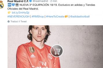 Modric Real Madrid Twitter 3 maglia