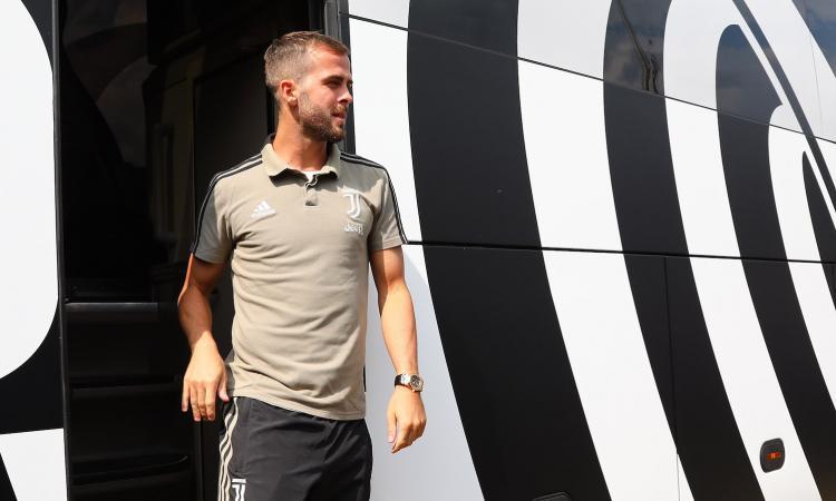 Torino-Roma, Pjanic in visita ai suoi ex compagni di squadra
