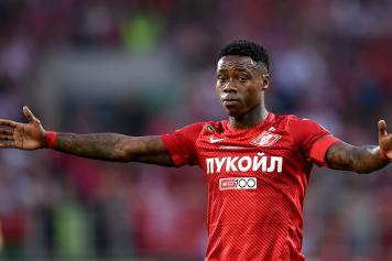 Quincy Promes braccia larghe Spartak Mosca